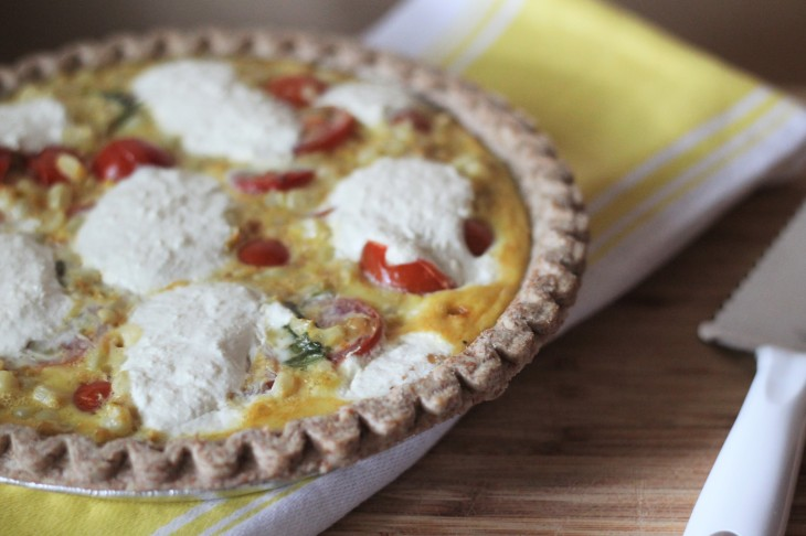 Farmers market quiche cherry heirloom tomatoes and fresh corn work best in this recipe but you can use frozen corn and roma or beefsteak tomatoes if youre in a pinch forumfinder Image collections